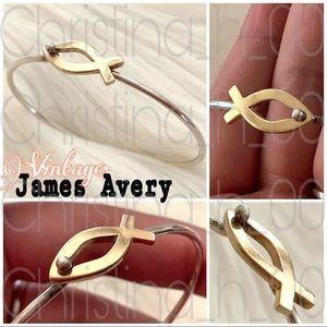 14k gold Vintage James Avery ichthus hook bracelet